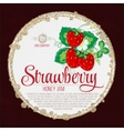 Colorful vintage Strawberry label poster vector image