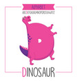 alphabet letter d and dinosaur vector image