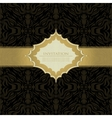 Black beautiful vintage swirl abstract gold card vector image