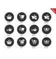 Checkout icons on white background vector image