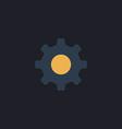 cog wheel computer symbol vector image