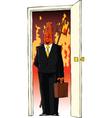 devil in the door vector image