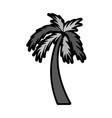 flat palm cartoon vector image