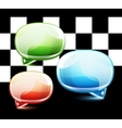 Glossy colorful speech bubbles vector image