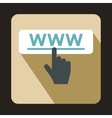 Hand cursor icon in flat style vector image