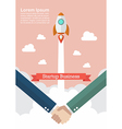 Handshake deal startup business vector image
