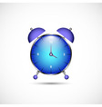 Metal clock icon in color vector image