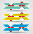 Modern set of ribbons infographics vector image
