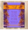 Table guest list Autumn wild grape background vector image