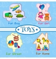 Toys icons composition vector image