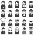 Various People Symbol Icons Occupation Set vector image