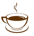 icon of coffee cup vector image vector image