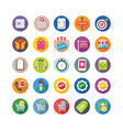 shopping and commerce icons 9 vector image