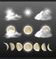 set of realistic weather icons vector image