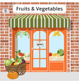 fruits and vegetables shop vector image
