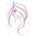 women pink vector image