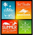 four Summer text typography vintage poster vector image vector image