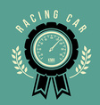 Racing School design vector image