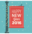 happy new year 2016 card sign street vector image