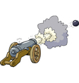 artillery fired kernel vector image vector image