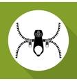 Zip design Zipper icon Clothing concept vector image