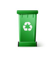 Green Recycle Bin vector image