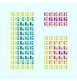 Modern abstract colorful window vector image