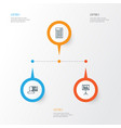 project icons set collection of presentation vector image