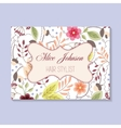 Floral business card vector image vector image
