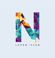 letter logotype logo abstract colorful triangle vector image