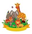 cartoon animals - zoo vector image