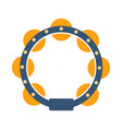 tambourine part of musical instruments set of vector image
