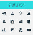 set of simple impasse icons vector image