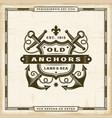 vintage old anchors label