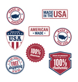 USA stamps and badges vector image