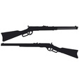 Two old american rifles vector image