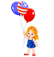 Independence Day girl vector image vector image