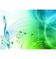blue and green music vector image vector image
