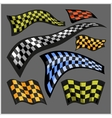 Checkered Racing Flags - set vector image