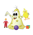 bacteria is playing with toys vector image vector image
