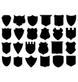 Set of different shields vector image