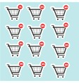 Shopping cart sale icons vector image