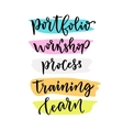 Learning lettering for blog icons hand vector image