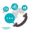 customer service telephone call center vector image