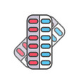 pill in blister pack linear icon vector image