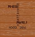 restaurant menu on a wooden background vector image
