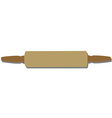 Rolling pin isolated vector image