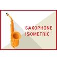 saxophone isometric flat 3d vector image