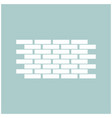 wall the white color icon vector image