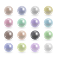 Colorful pearls collection vector image